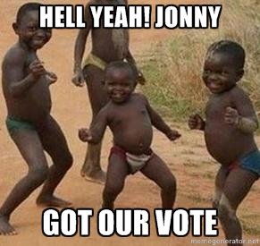 Jonny-got-our-vote