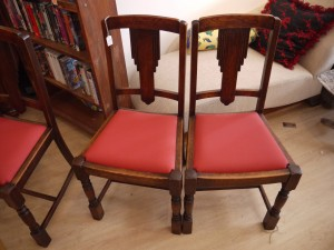 four deco dining chairs