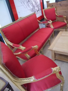gilt sofa suite